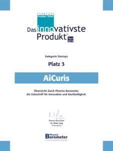 AiCuris: das innovativste Produkt im Pharma Trend Startups Platz 3