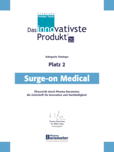 Surge-on Medical: das Innovativste Produkt im Pharma Trend Startups Platz 2